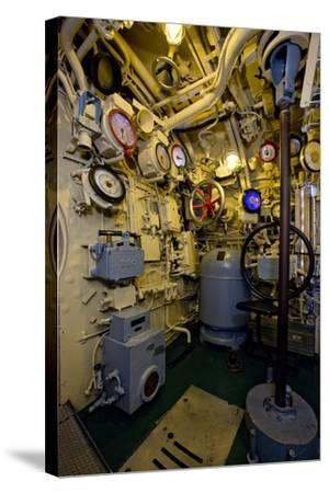 The Helmsman Station on the Captured German Submarine U505--Stretched Canvas Print