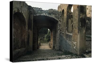 View of Caetani Castle, 13th Century, Sermoneta, Lazio, Italy--Stretched Canvas Print