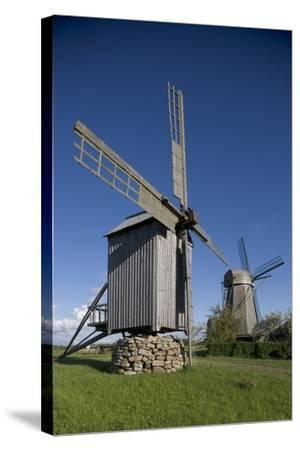 Wooden Windmills, Angla, Saaremaa Island, Estonia--Stretched Canvas Print