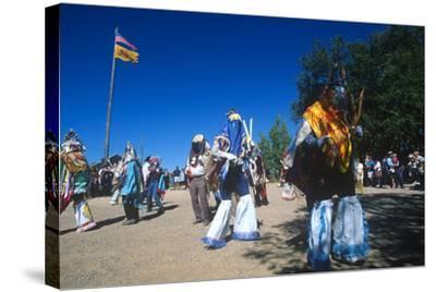 Dance of Los Matachines, El Rancho De Las Golondrinas, New Mexico--Stretched Canvas Print