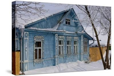 Traditional Wooden House, Suzdal, Golden Ring, Russia--Stretched Canvas Print