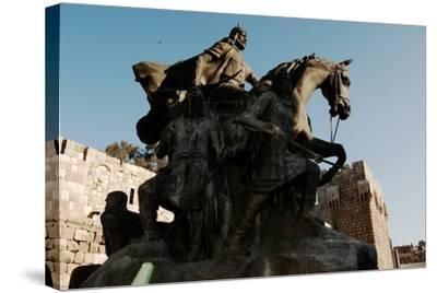 Saladin Memorial, Entrance to Citadel, Damascus, Syria--Stretched Canvas Print
