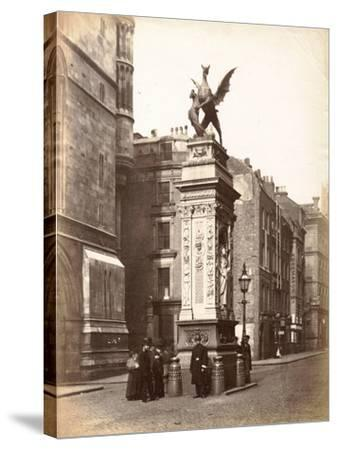 Temple Bar, London, C.1885--Stretched Canvas Print
