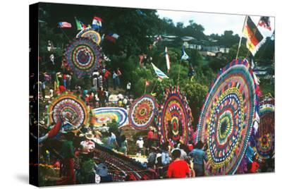 Giant Kite Festival, All Souls All Saints Day, Guatemala--Stretched Canvas Print