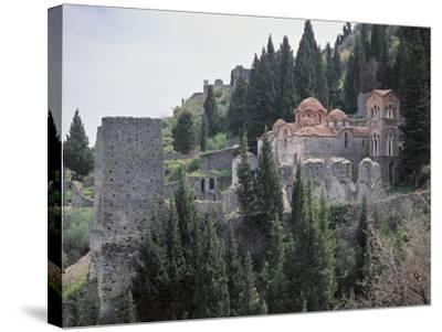Church Surrounded by Trees, Church of Panayia, Peloponnese, Greece--Stretched Canvas Print