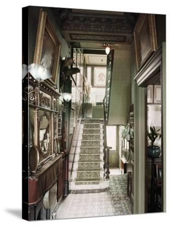 Hallway of 18 Stafford Terrace, Kensington and Chelsea, London--Stretched Canvas Print