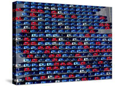 Cars at Bristol Docks--Stretched Canvas Print