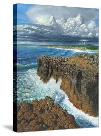 Atlantic Breakers Pontal Portugal-Richard Harpum-Stretched Canvas Print