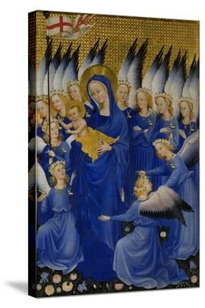 Mary with Child and Angels, Right Panel of Wilton Diptych--Stretched Canvas Print