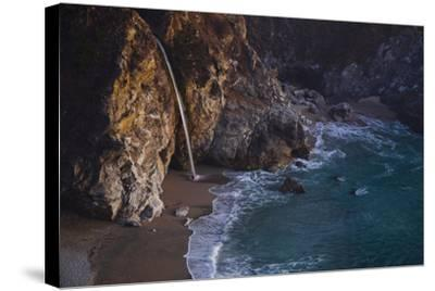 Julia Pfeiffer Burns State Park, Big Sur, California: Mcway Waterfall Just after Sunset-Ben Horton-Stretched Canvas Print