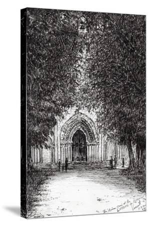 The Roman Door, L'Abbey De Blassimon, 2010-Vincent Alexander Booth-Stretched Canvas Print