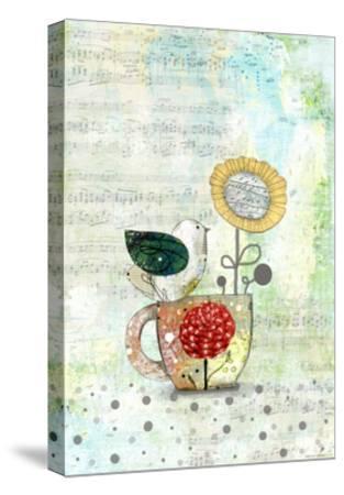 Bird on a Tea Cup-Sarah Ogren-Stretched Canvas Print