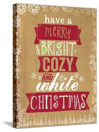 Cozy White Christmas-Katie Doucette-Stretched Canvas Print