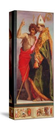 Polyptych from Vallombrosa Abbey, Detail of the Right Hand Side-Andrea del Sarto-Stretched Canvas Print