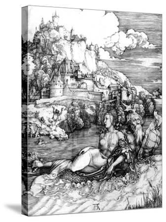 The Sea Monster, 1498-Albrecht D?rer-Stretched Canvas Print