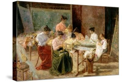 Venetian Embroidery Makers, C.1905-Andrew Colley-Stretched Canvas Print