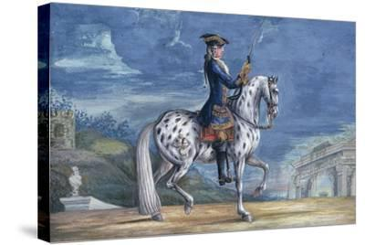 No. 11 an Appaloosa Horse of the Spanish Riding School, from the Imperial Stud in Bohemia-Baron Reis d' Eisenberg-Stretched Canvas Print