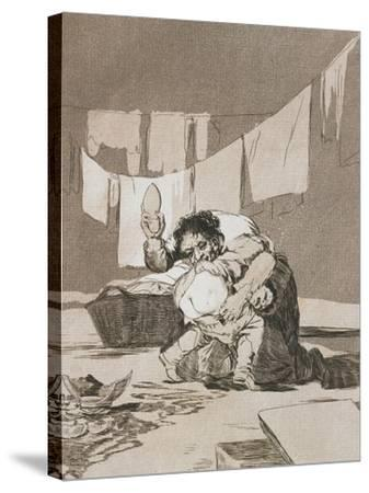 Plate from Los Caprichos, 1797-1798-Francisco de Goya-Stretched Canvas Print