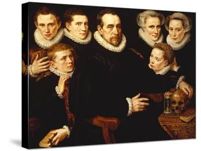 A Group Portrait of a Gentleman Aged 57-Adriaen Thomasz Key-Stretched Canvas Print