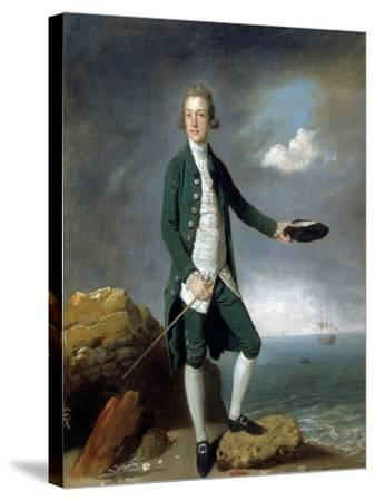 Sir Francis Holvering-Johann Zoffany-Stretched Canvas Print