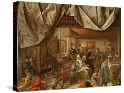 The Brewery of Jan Steen-Jan Havicksz^ Steen-Stretched Canvas Print