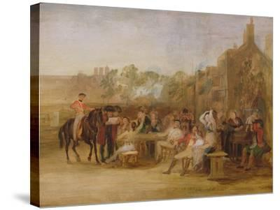 Study for 'Chelsea Pensioners Reading the Waterloo Dispatch', 1822-Sir David Wilkie-Stretched Canvas Print