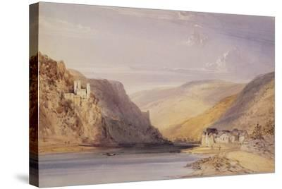 The Rhine at Assmannshausen-William Callow-Stretched Canvas Print
