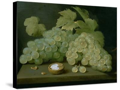 Grapes with Half a Walnut-Jacob Foppens Van Es-Stretched Canvas Print