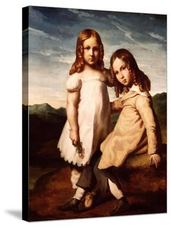 Alfred Dedreux (1810-60) as a Child with His Sister, Elisabeth, 1816-17-Theodore Gericault-Stretched Canvas Print