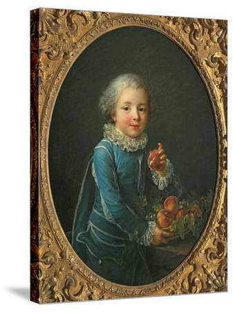 Boy with Peaches, 1760-Francois-Hubert Drouais-Stretched Canvas Print