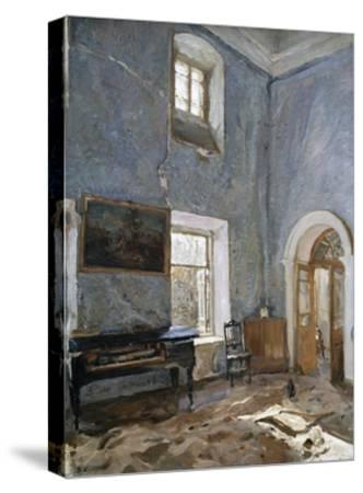The Hall in the Old House, the Obinskys' Estate, Belkino-Valentin Aleksandrovich Serov-Stretched Canvas Print
