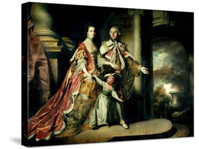 Earl and Countess of Mexborough, with their Son Lord Pollington, 1761-64-Sir Joshua Reynolds-Stretched Canvas Print