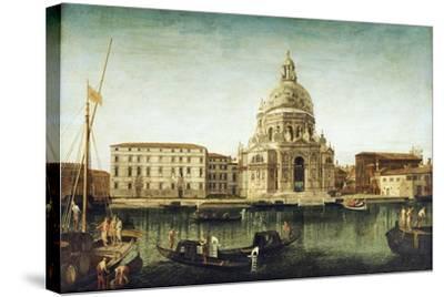 Santa Maria Della Salute, Venice, with Gondolas on the Grand Canal-Michele Marieschi-Stretched Canvas Print