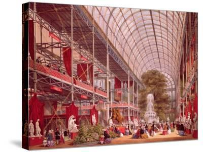 The Transept at the Great Industrial Exhibition of 1851-Joseph Nash-Stretched Canvas Print