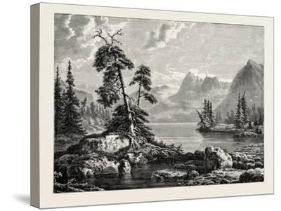 A View on the Hardanger Fjord--Stretched Canvas Print