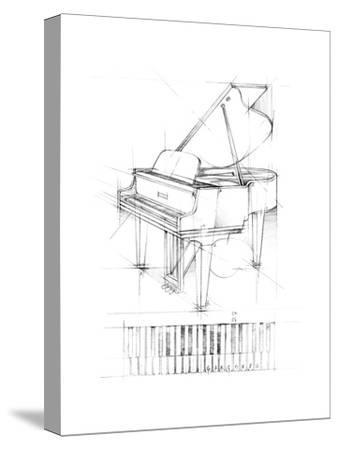 Piano Sketch-Ethan Harper-Stretched Canvas Print