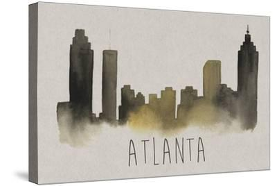 City Silhouettes I-Grace Popp-Stretched Canvas Print