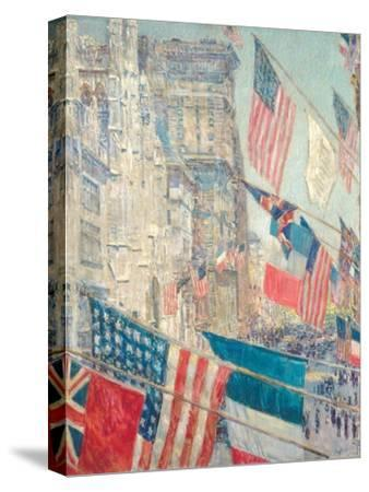 Allies Day, May 1917-Childe Hassam-Stretched Canvas Print