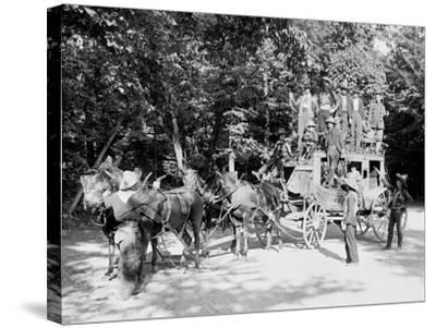 Niagara Falls, June 23D, 1898, Pawnee Bills Wild West Co.--Stretched Canvas Print