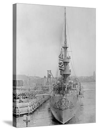 U.S.S. New Orleans at Brooklyn Navy Yard--Stretched Canvas Print
