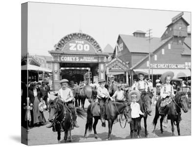 The Ponies, Coney Island, N.Y.--Stretched Canvas Print