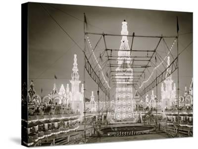 Night in Luna Park, Coney Island, N.Y.--Stretched Canvas Print