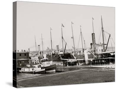 U.S. Government Fleet at Sault Ste. Marie, Mich.--Stretched Canvas Print
