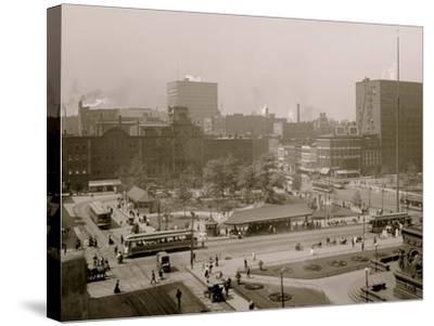 Public Square, Cleveland, Ohio--Stretched Canvas Print