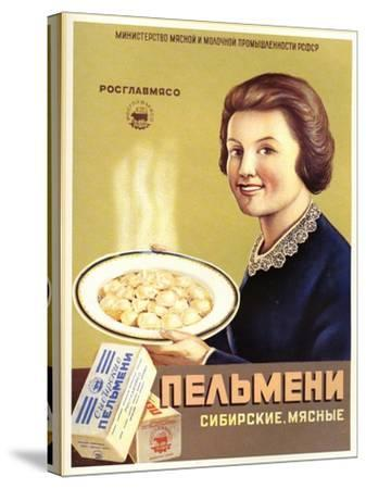 Siberian Meat - Pelmeni - Meat Stuffed in Pastry--Stretched Canvas Print