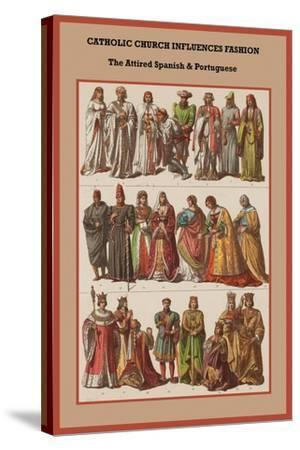Catholic Church Influences Spanish and Portuguese-Friedrich Hottenroth-Stretched Canvas Print