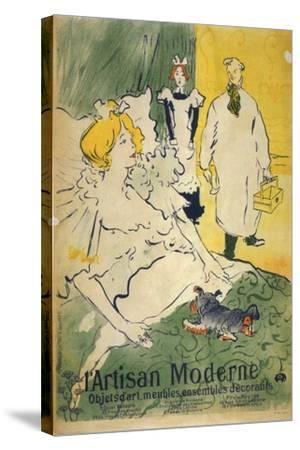 L'Artisan Moderne (1895)-Henri de Toulouse-Lautrec-Stretched Canvas Print