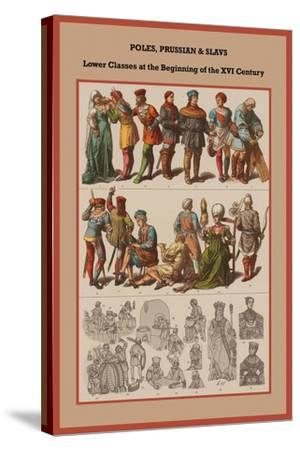 Poles, Prussian and Slavs Lower Classes at the Beginning of the XVI Century-Friedrich Hottenroth-Stretched Canvas Print