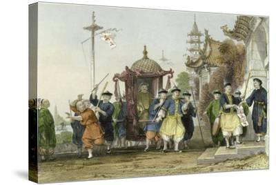 Mandarin Paying Visit-Thomas Allom-Stretched Canvas Print