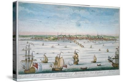 Boston in 1750-John J. Carwitham-Stretched Canvas Print